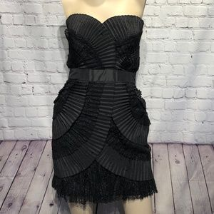 Laundry By Shelli Segal Cocktail Dress LBD Size 4